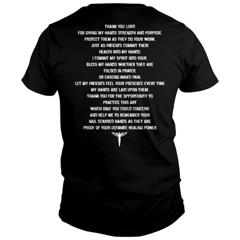 A Chiropractors Prayer Shirt