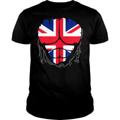 United Kingdom Flag Ripped Muscles Shirt