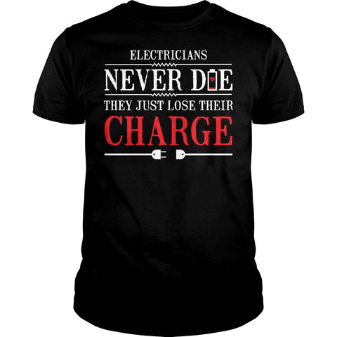 Old Electricians Never Die Shirt