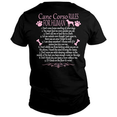 Cane Corso Rules For Human Shirt