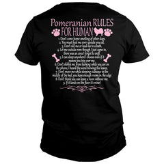 Pomeranian Rules For Human Shirt