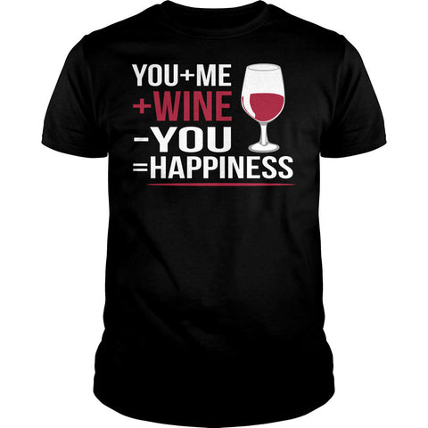 Me Plus Wine Equals Happiness Shirt