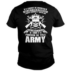I Own The Army Title Shirt