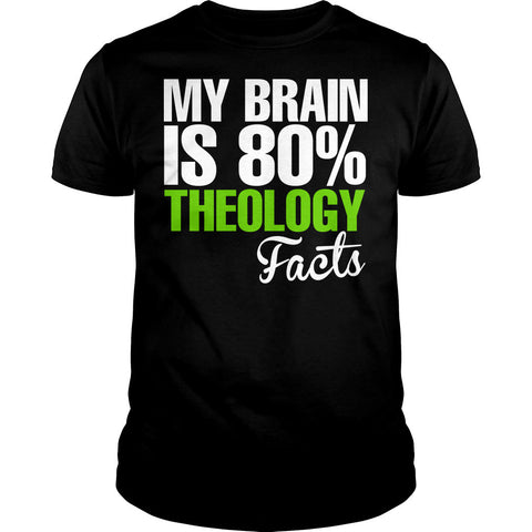 My Brain Is 80% Theology Facts Shirt