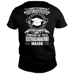 I Own The Electrical Engineering Major Title Shirt