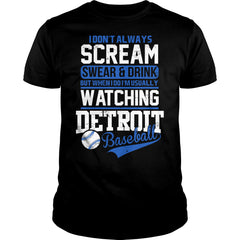 I Am Usually Watching Detroit Baseball Shirt