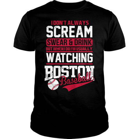 I Am Usually Watching Boston Baseball Shirt