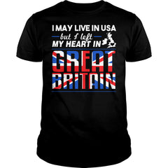I Left My Heart In Great Britain Shirt