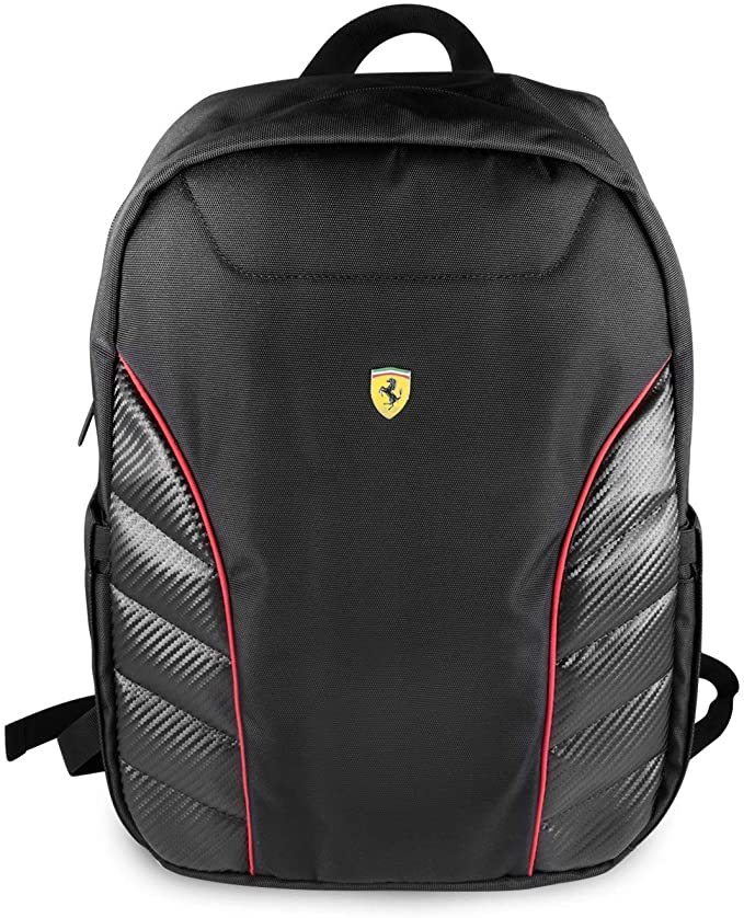 Ferrari Scuderia Black Backpack for 15 Inch Laptop