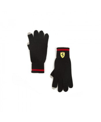 Knitted Gloves Black 2018 Scuderia Ferrari