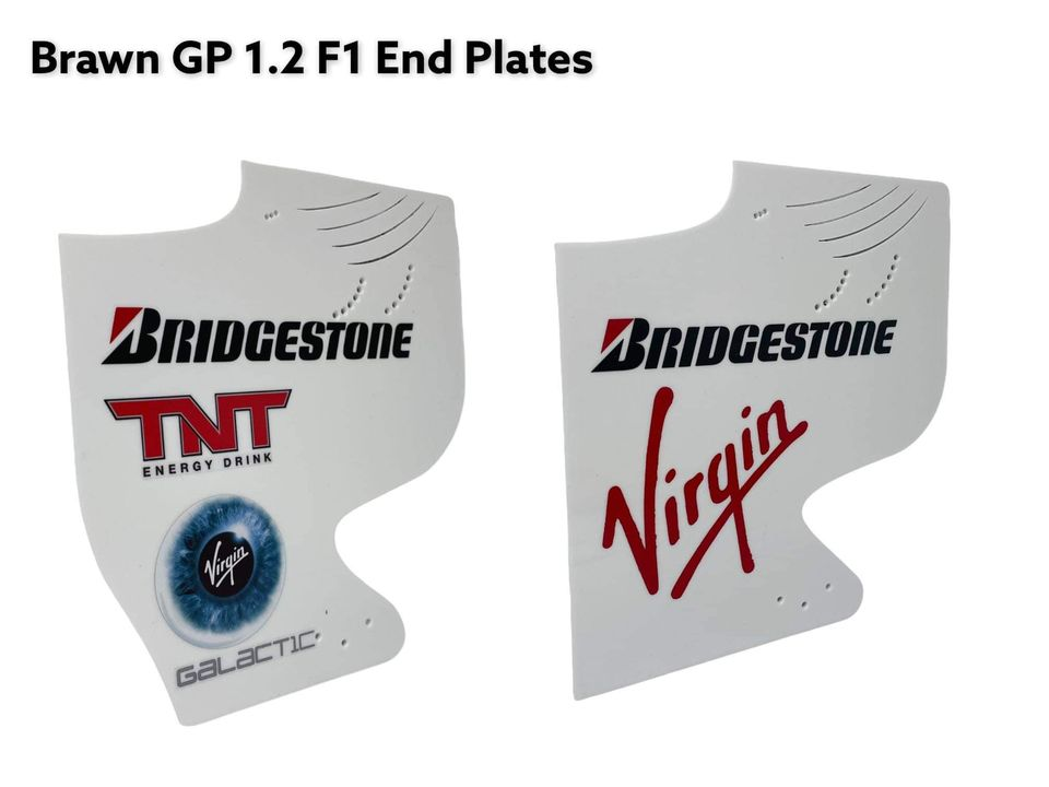 Brawn GP F1  1:2 Scale End Plates Bundle