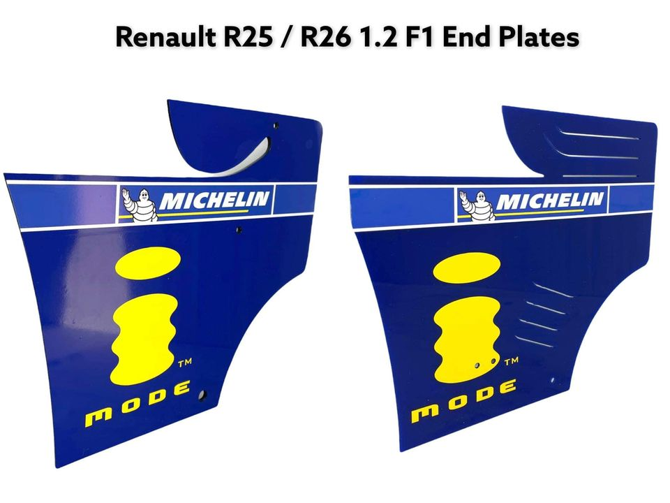 Renault Fernando Alonso Championship 1:2 Scale End Plate Bundle