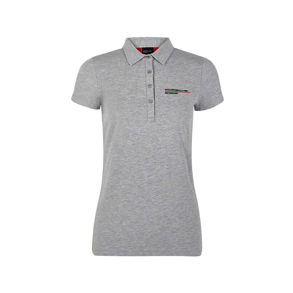Women's Porsche Motorsport Polo Shirt - Grey