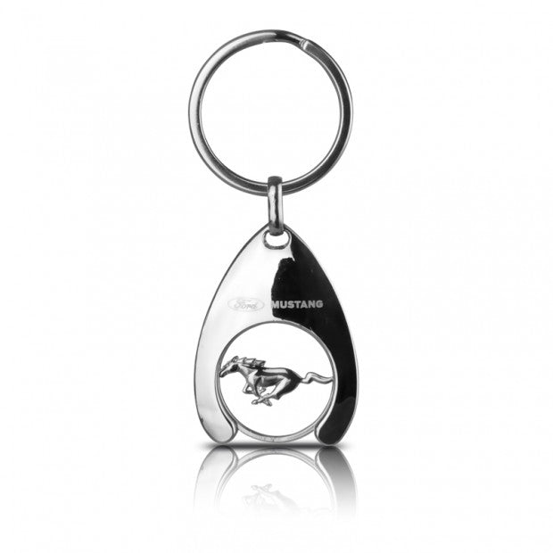 Ford Mustang Shopping Trolley Coin Keyring