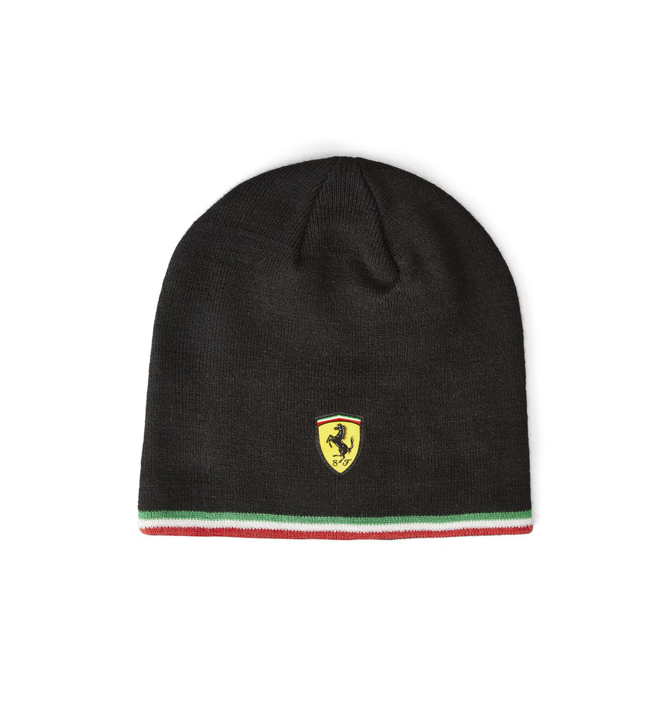 Scuderia Ferrari F1 Official Adults Beanie Hat - Black - 2019