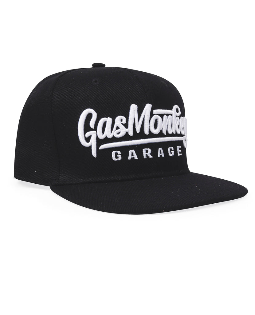 GMG 3D Script Logo Snap-Back Cap Gas Monkey (Black) - One Size