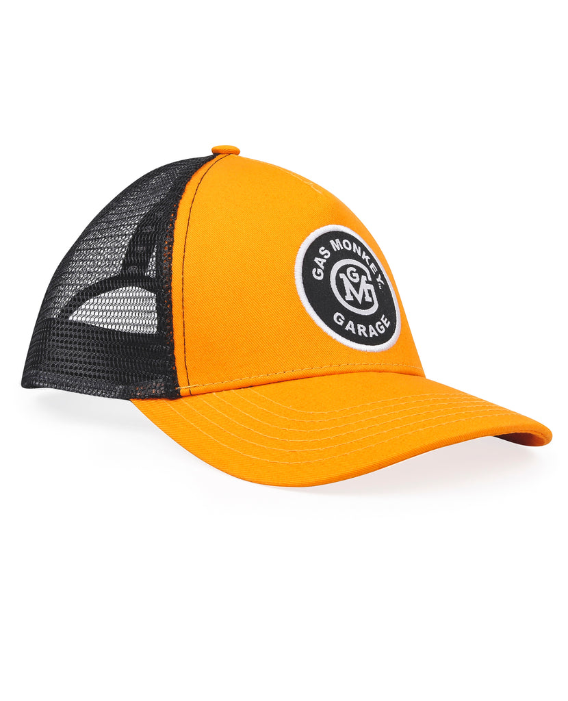 Gas Monkey Initial Logo Patch Trucker Cap (Mustard/Black)