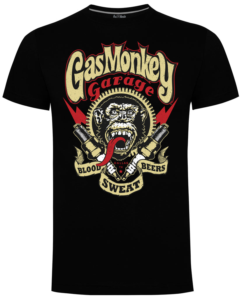 Spark Plugs Gas Monkey T-Shirt (Black)