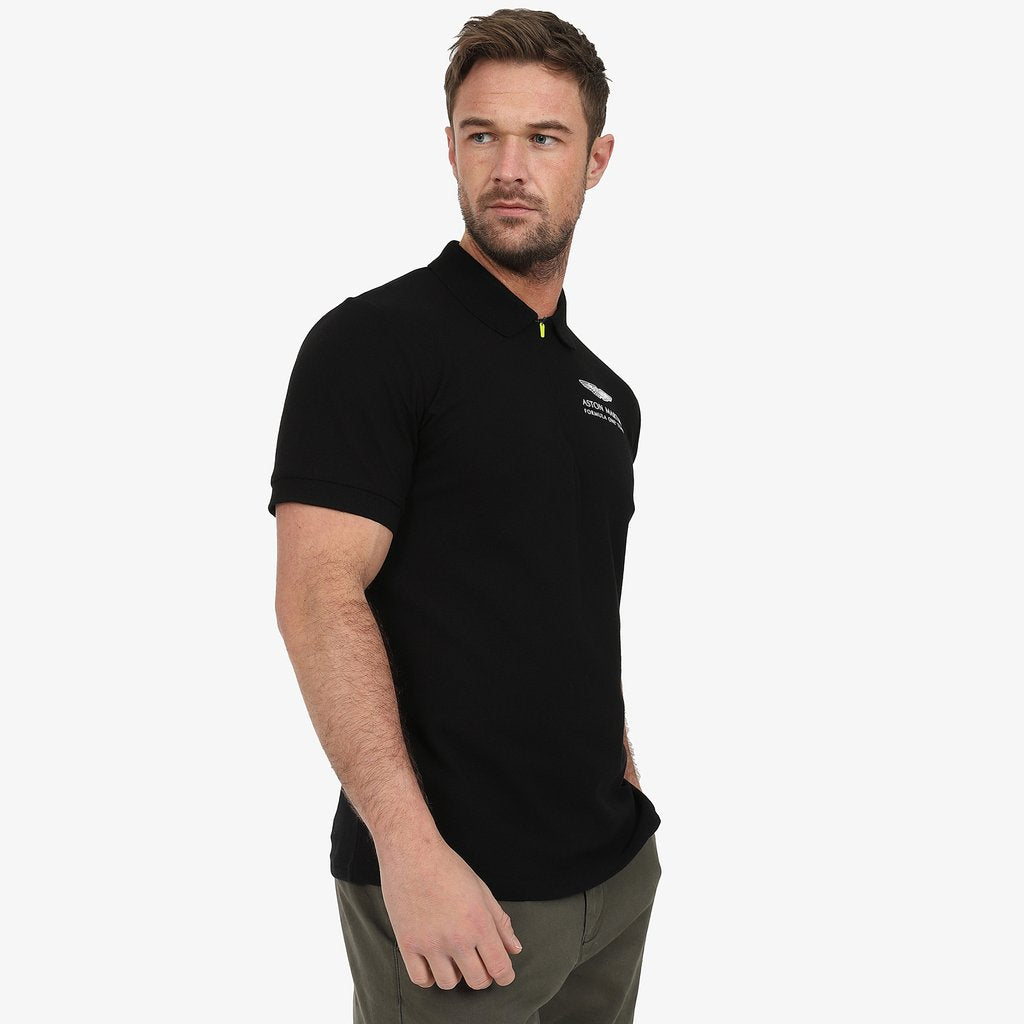 Aston Martin F1 Official Lifestyle Polo Shirt - Black