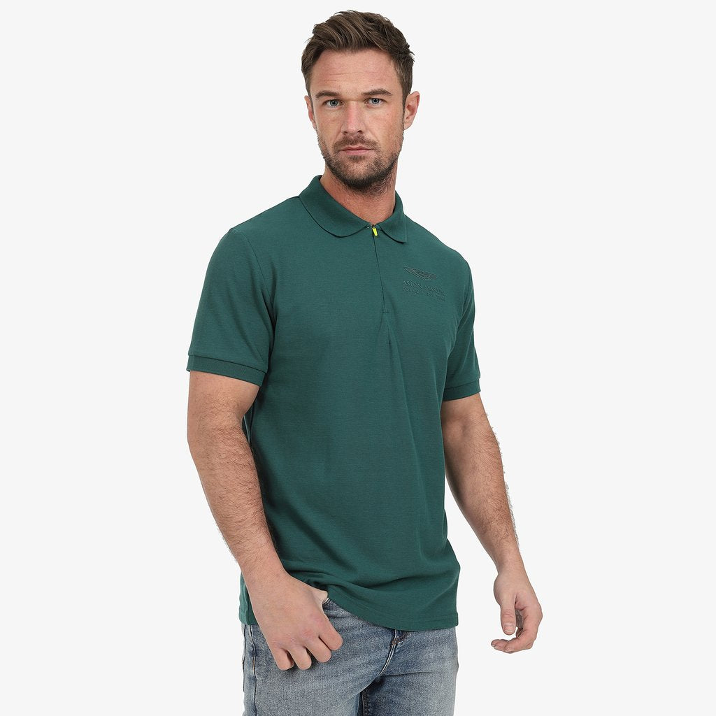 Aston Martin F1 Official Lifestyle Polo Shirt - Green
