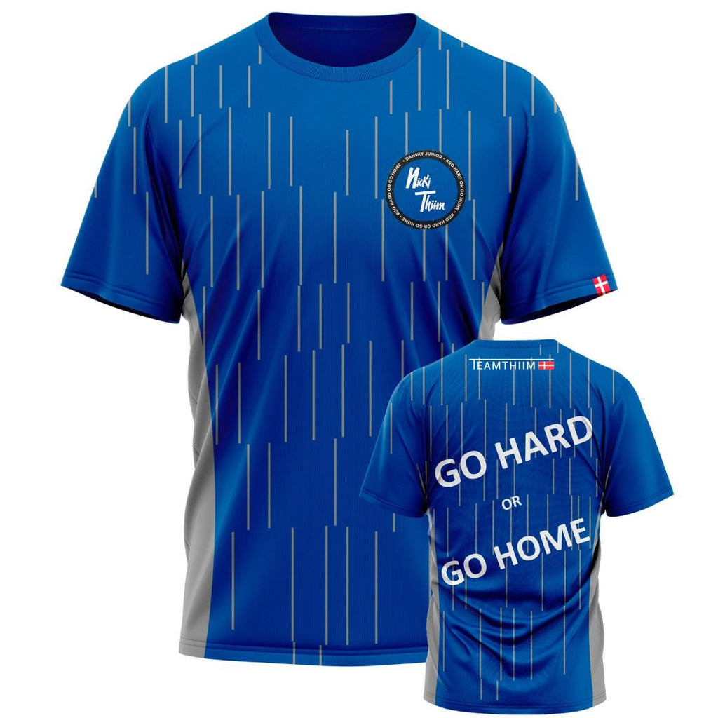 NICKI THIIM GO HARD OR GO HOME BLUE KIDS T-SHIRT