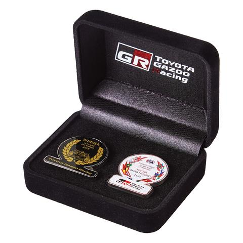 WRC DOUBLE PIN BADGE SET