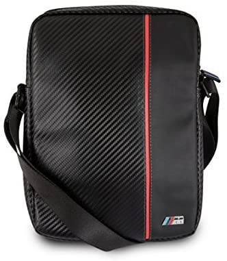 BMW M Collection Carbon Inspiration– Black/Red Travel/ Tablet Bag 9-10 inch
