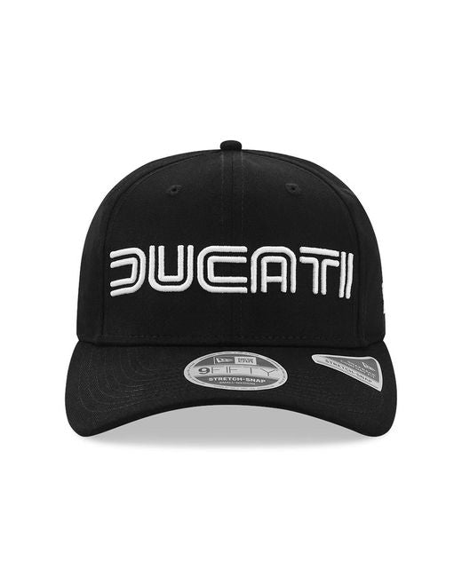 Ducati - New Era Wordmark 9Fifty Stretch Snapback Cap - Black