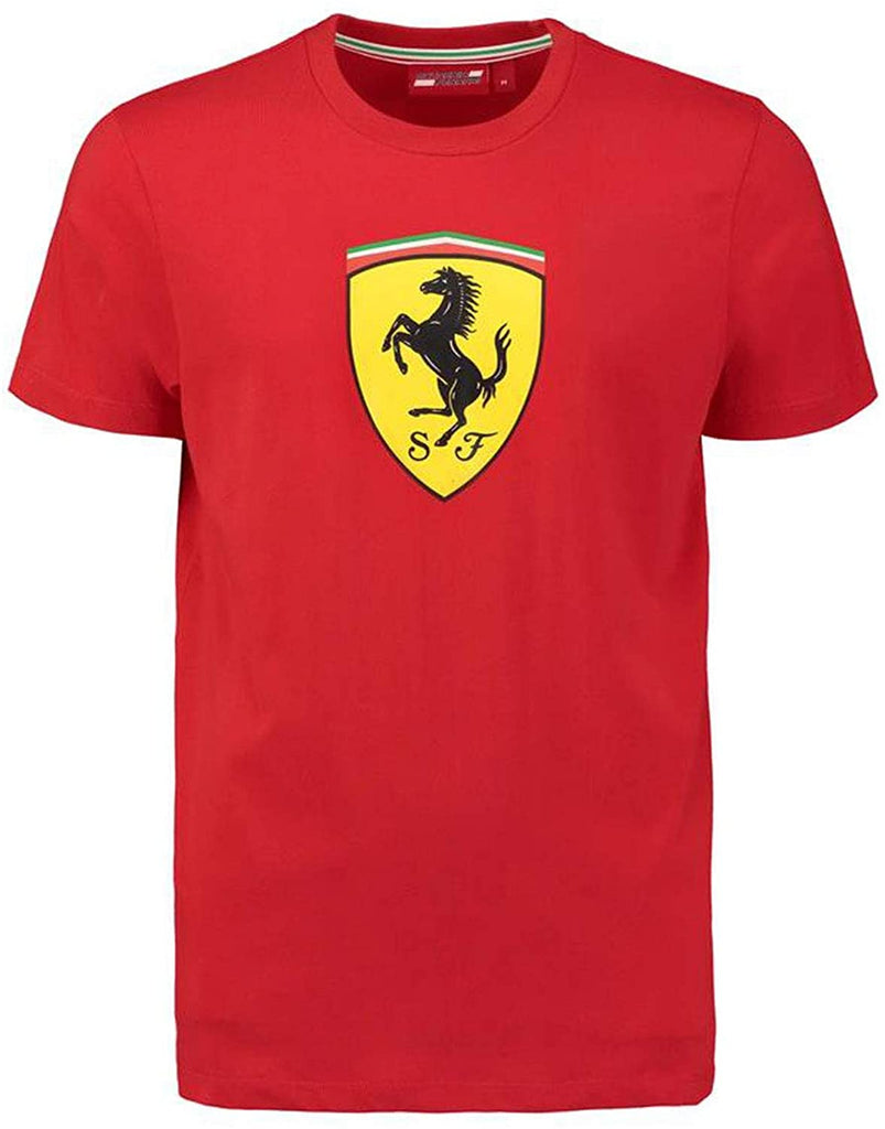 Ferrari Men's Red Classic Crew Neck T-Shirt