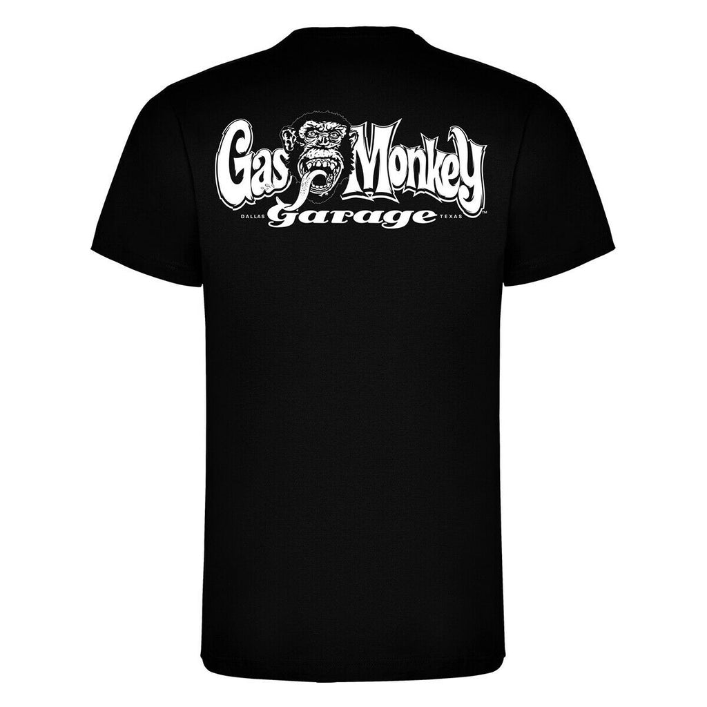 Gas Monkey Garage - Official Kyd Hot Rod  - 'V Neck Side Logo' T Shirt