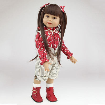 Minidiva Silicone Long Hair Girl Doll Jeesi in Leisure Dress - MiniDiva