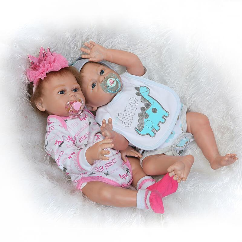 Minidiva Lifelike Reborn Twins Dolls  Kelly and Zelly - MiniDiva