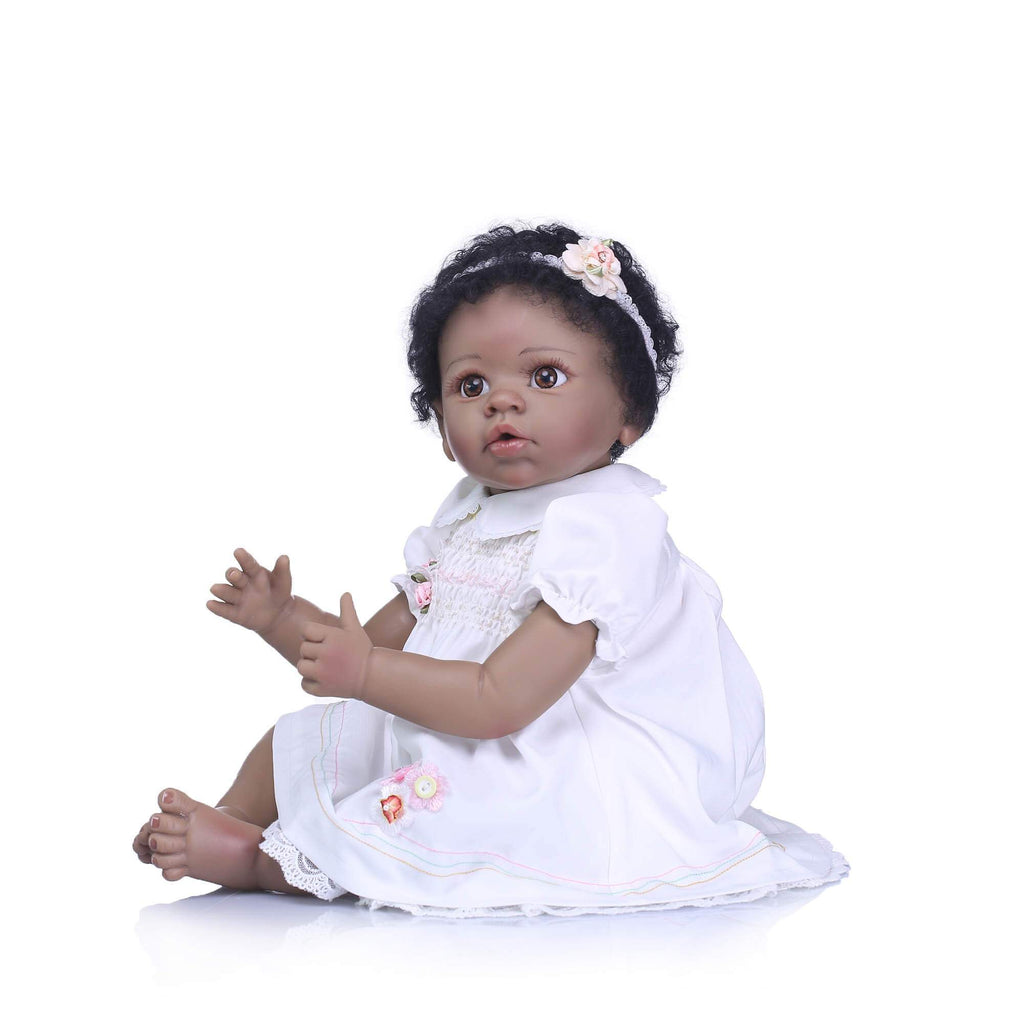 Minidiva Truly African-American Baby Girl Doll Orval with Bear Doll - MiniDiva