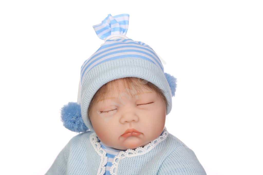 Minidiva Cute Sleeping Blue Baby Girl Doll Lucy - MiniDiva