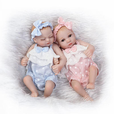 Minidiva Realistic Mini Twins Baby Set Shirley and Silver - MiniDiva