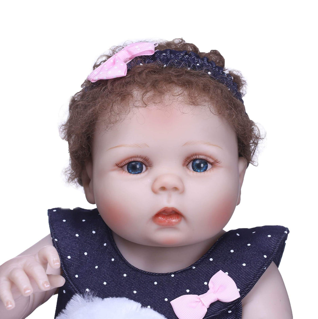 Minidiva Sweet Lifelike Baby Girl with Bear Doll - MiniDiva