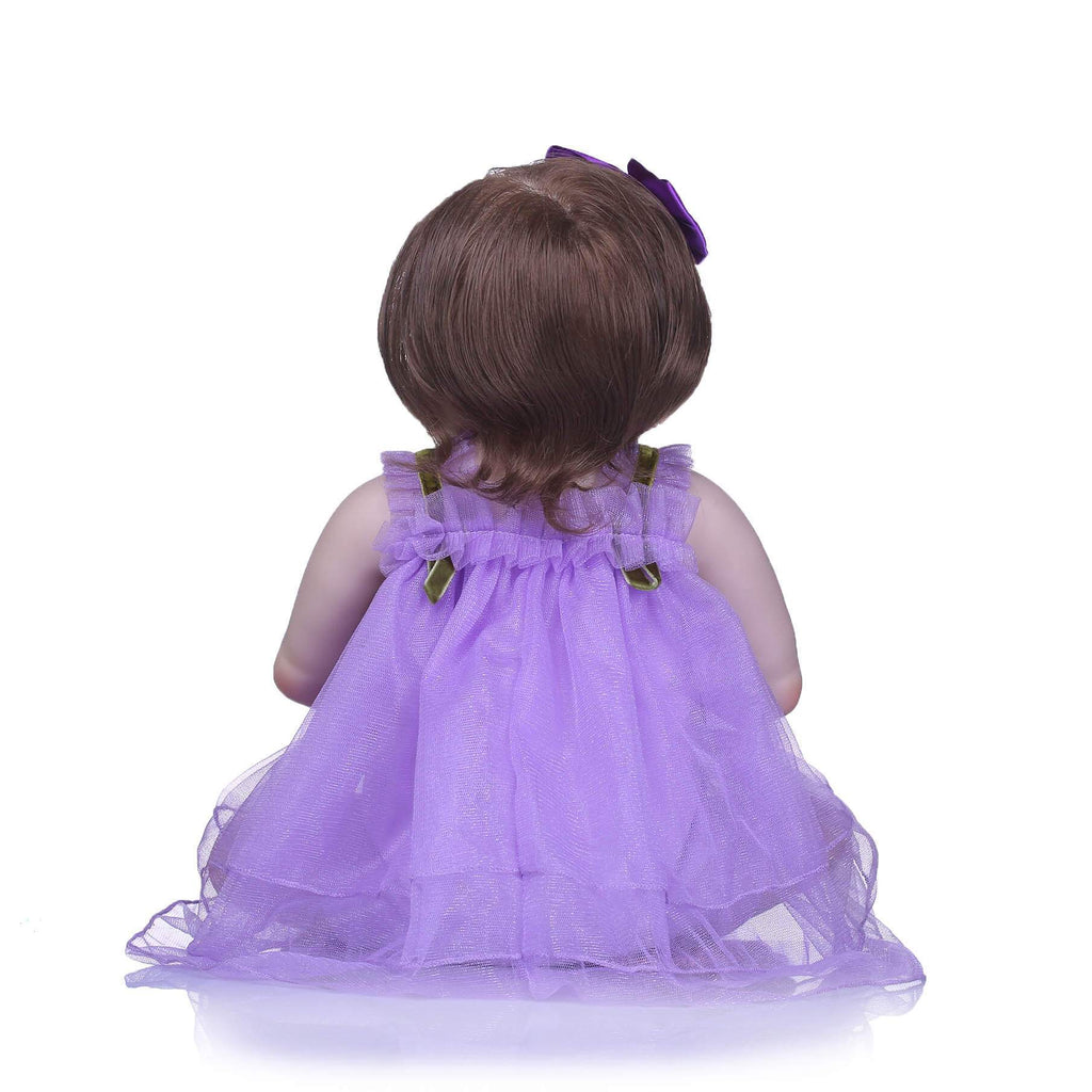 Minidiva Purple Dress Baby Girl Doll Minnie - MiniDiva