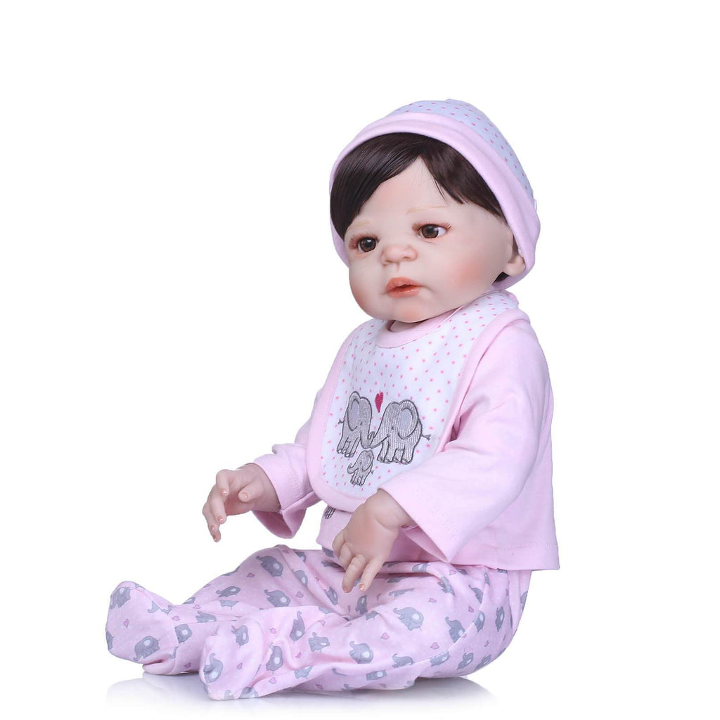 Minidiva Clever Silicone Reborn Baby Anz With Elephant Doll - MiniDiva