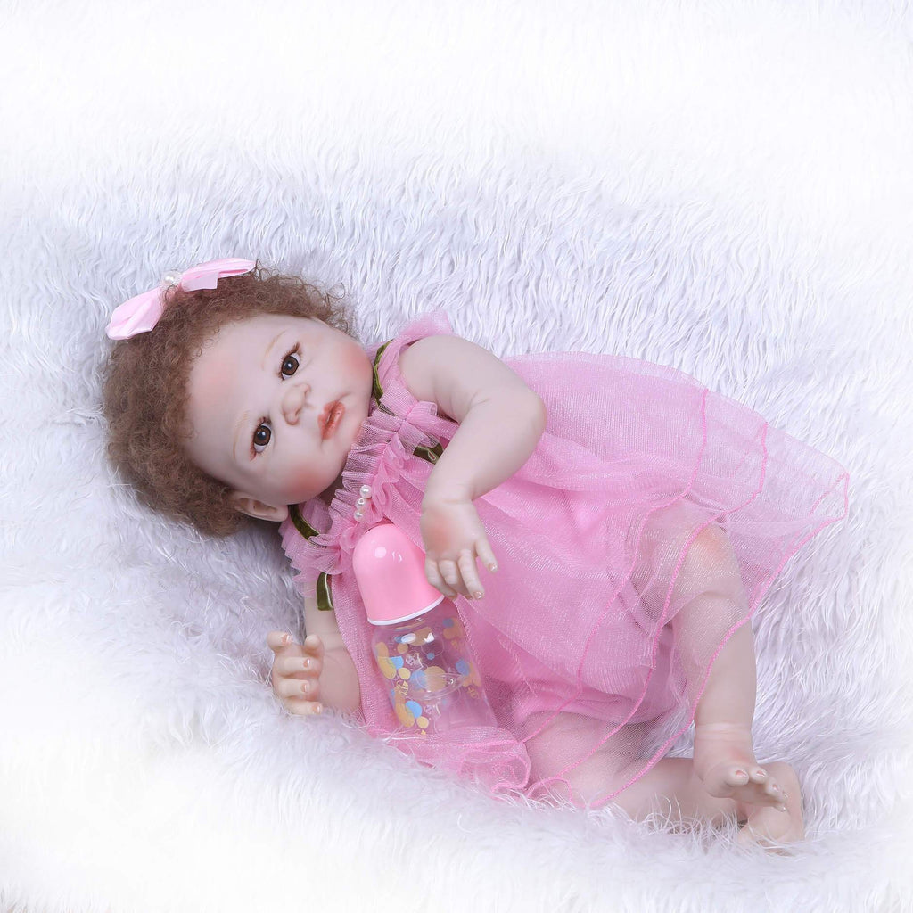 Minidiva Lifelike Pink Dress Girl Baby Irma - MiniDiva