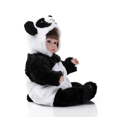Minidiva Lifelike Baby Girl Doll Zik in Panda Dress - MiniDiva