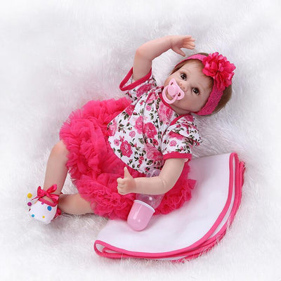 Minidiva Red One-piece Dress Baby Doll Girl Rhea - MiniDiva