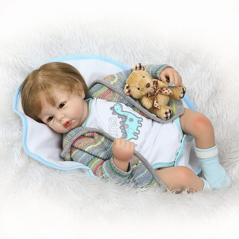 Minidiva Lifelike Baby Girl Opal with Bear Doll - MiniDiva