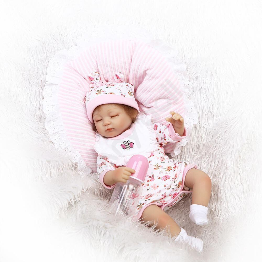 Minidiva Truly Sleeping Baby Girl with Big Pillow - MiniDiva