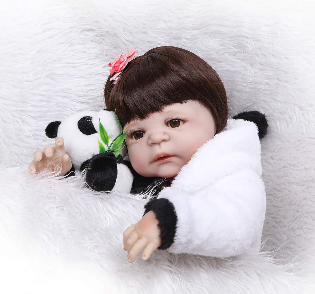 Minidiva Panda theme White Silicone Full Body Baby Girl - MiniDiva