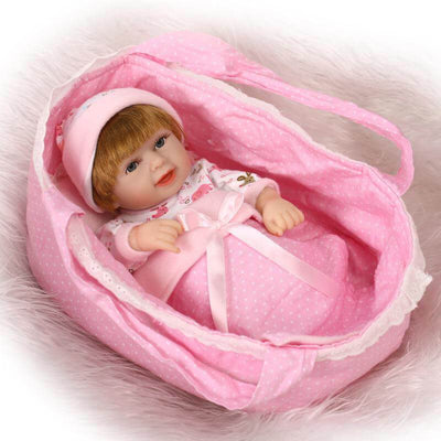 Minidiva Realistic Mini Sweet Baby GirlLauren with Basket - MiniDiva