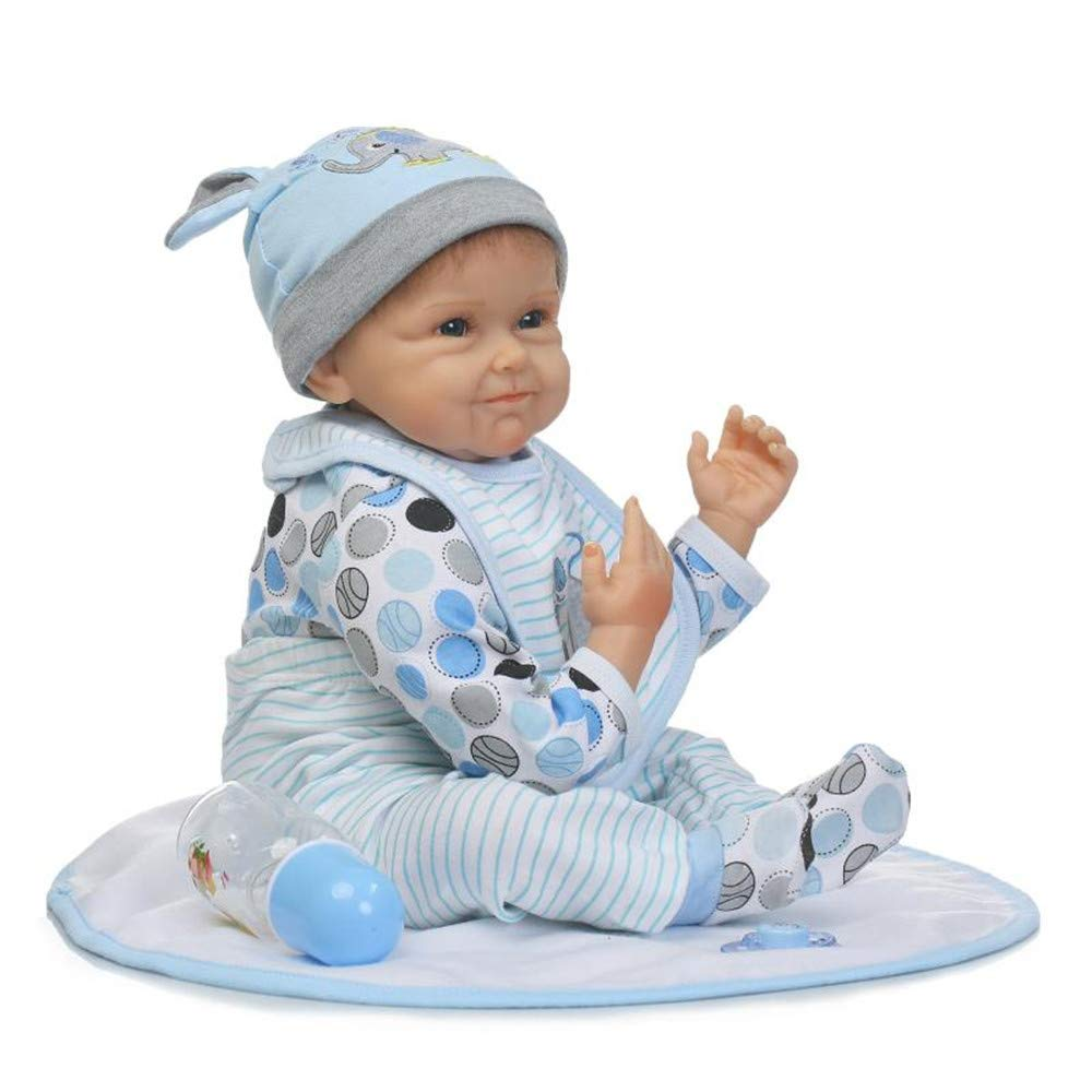 "Minidiva Reborn Baby Doll, 100% Handmade Soft Silicone 22"" /55cm Lifelike Newborn Doll for Children-RB111 - MiniDiva"