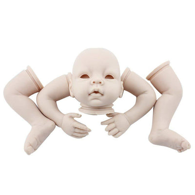 Minidiva Unpainted Baby Doll, 100% Handmade Silicone 55cm Doll DIY Accessories For Kids - MiniDiva