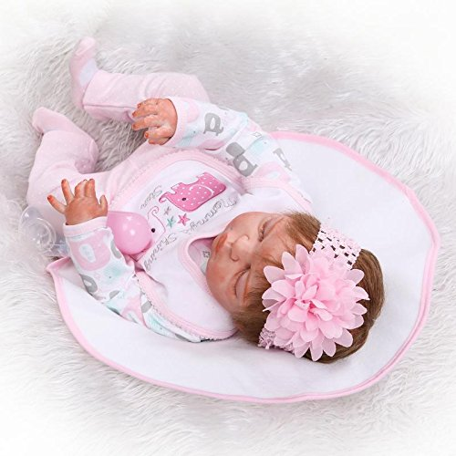 "22"" Full Silicone Body Girl Reborn Doll Alive Baby Bath Toys Lifelike Princess Toddler Fashion Doll Bebe Reborn Menina - MiniDiva"