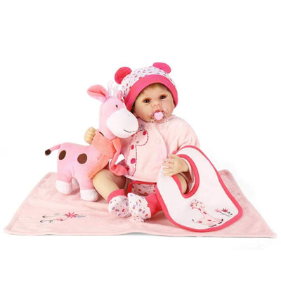 "Minidiva Reborn Baby Doll, 100% Handmade Soft Silicone 22"" /55cm Lifelike Newborn Doll for Children Xmas Gift-RB144 - MiniDiva"
