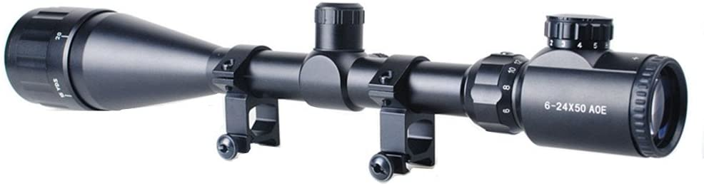 Minidiva red & green mil-dot illuminated 6-24x50 aoe optics hunting rifle scope